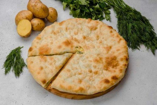 Осетинский пирог с картошкой и зеленью. Афра Пироги