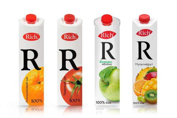 Сок Rich 1л